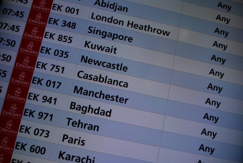 Liste de vols pour le Maroc