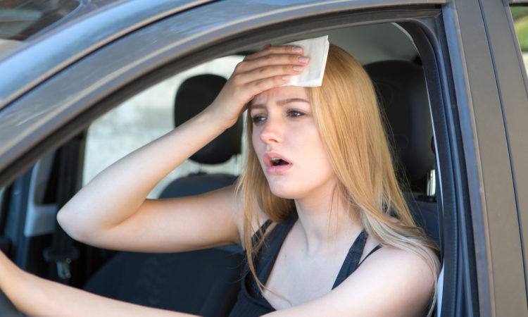 Canicule en voiture