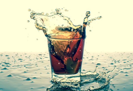 verre de bulles de soda