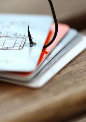 Cartes de crédit hameçonnées pour simuler le phishing sur internet