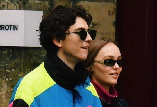 Timothée Chalamet et Lily-Rose Depp à Paris