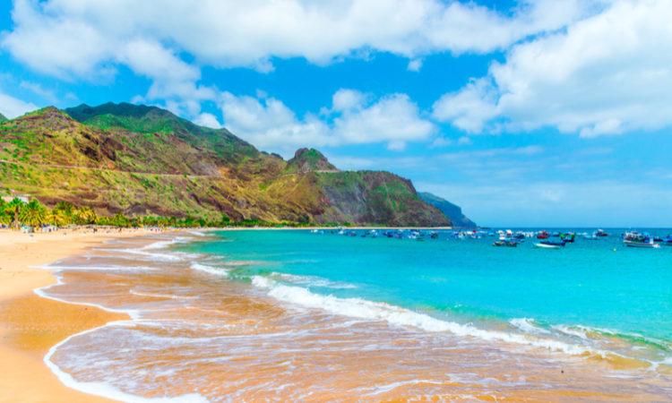 Elle plage à Tenerife